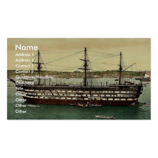 """The """"Impregnable"""" training ship, Plymouth, England Business Card"""