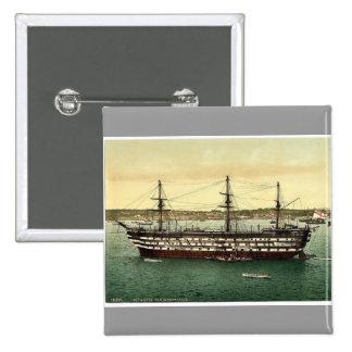 "The ""Impregnable"" training ship, Plymouth, England Pinback Button"