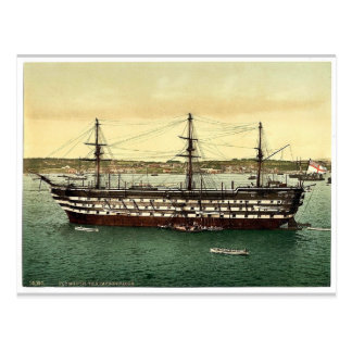 """The """"Impregnable"""" training ship, Plymouth, England Post Cards"""