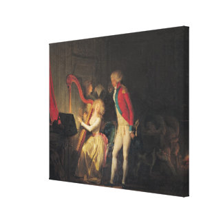 The Improvised Concert, or The Price of Canvas Print