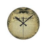 The Inaugural Address of President Abraham Lincoln Wall Clocks