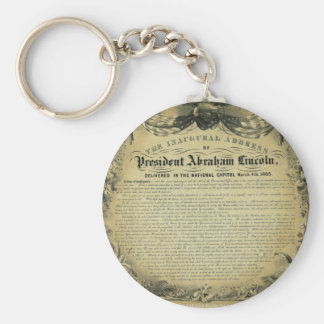 The Inaugural Address of President Abraham Lincoln Keychains