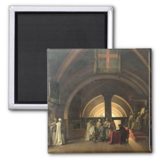 The Inauguration of Jacques de Molay 2 Inch Square Magnet