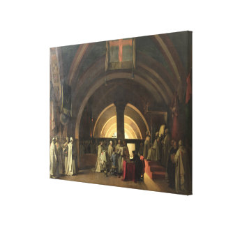 The Inauguration of Jacques de Molay Canvas Print