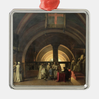 The Inauguration of Jacques de Molay Metal Ornament