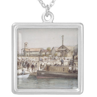 The Inauguration of the Suez Canal Silver Plated Necklace