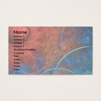 The Incinerator Fractal Art hot fire Business Card