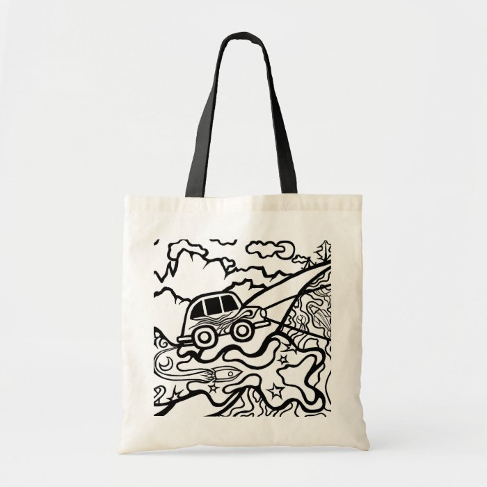 The Incredible Flying Car - Color Me - tote bag