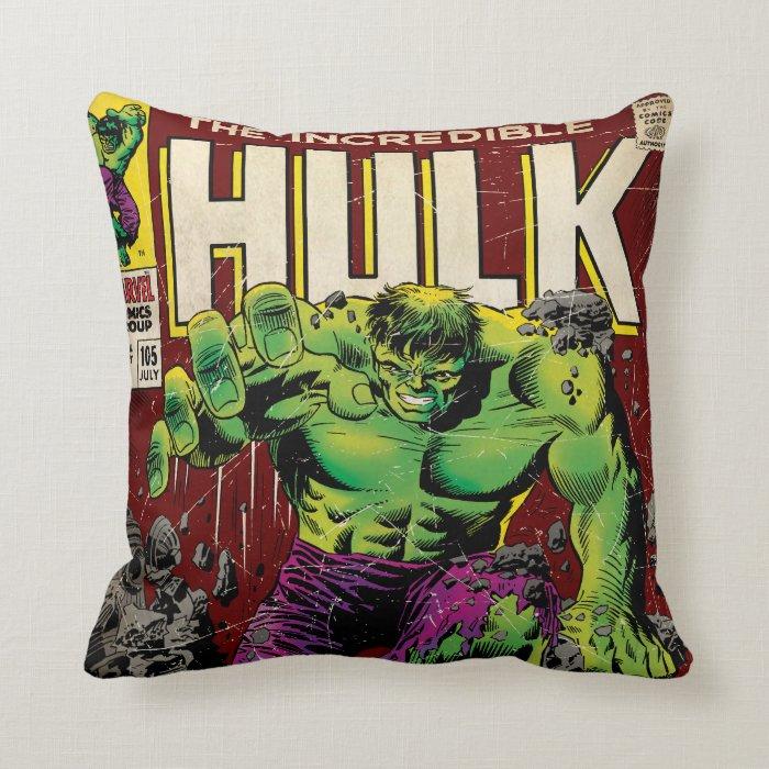 Hulk Decorative Pillow : The Incredible Hulk Comic #105 Throw Pillow Zazzle