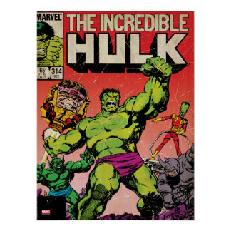 The Incredible Hulk Comic #314 Poster