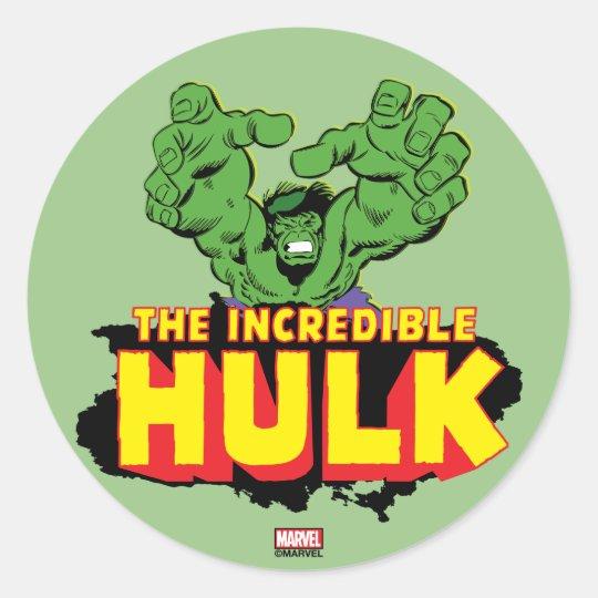 The Incredible Hulk Logo Classic Round Sticker Zazzle