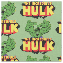 The Incredible Hulk Logo Fabric