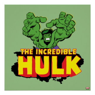 The Incredible Hulk Logo Poster