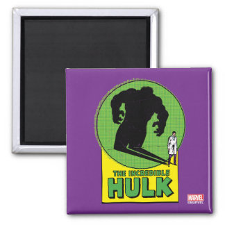 The Incredible Hulk Vintage Shadow Graphic 2 Inch Square Magnet