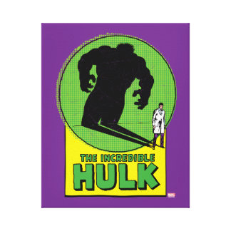 The Incredible Hulk Vintage Shadow Graphic Canvas Print