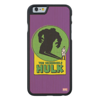The Incredible Hulk Vintage Shadow Graphic Carved Maple iPhone 6 Case
