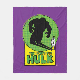 The Incredible Hulk Vintage Shadow Graphic Fleece Blanket