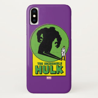 The Incredible Hulk Vintage Shadow Graphic iPhone X Case