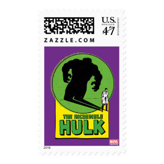 The Incredible Hulk Vintage Shadow Graphic Postage