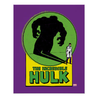 The Incredible Hulk Vintage Shadow Graphic Poster