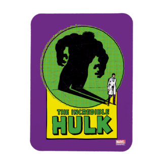The Incredible Hulk Vintage Shadow Graphic Rectangular Photo Magnet