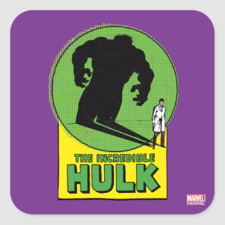 The Incredible Hulk Vintage Shadow Graphic Square Sticker