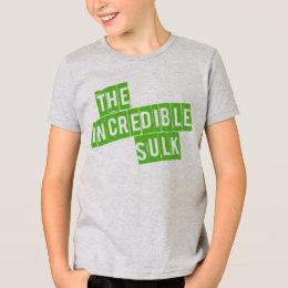 The Incredible Sulk Funny Girls Kids Tshirt