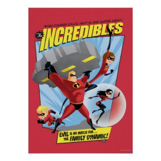 The Incredibles Action Poster Print