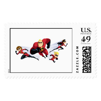 The Incredibles Disney Postage Stamps