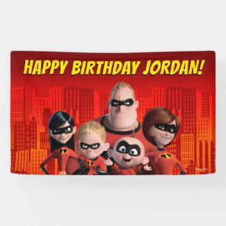 The Incredibles Family Birthday Banner