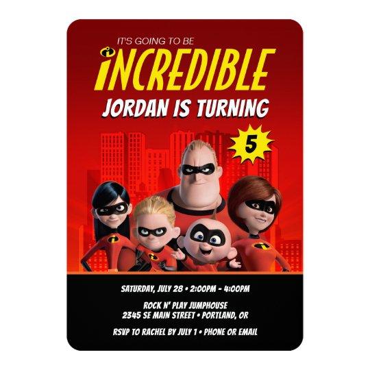 The Incredibles Family Birthday Invitation Zazzle Com