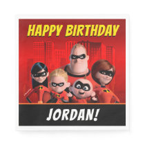 The Incredibles Family Birthday Napkin