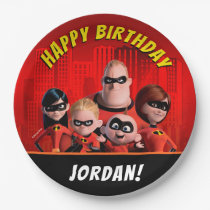 The Incredibles Family Birthday Paper Plate