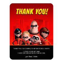 The Incredibles Family Birthday Thank You Card