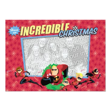 Disney Themed The Incredibles: Have an Incredible Christmas Card