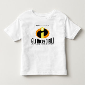 The Incredibles italian movie poster Disney Toddler T-shirt