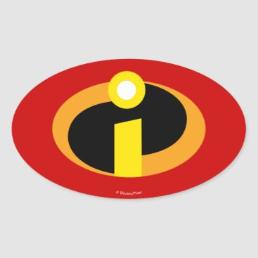 Disney Themed The Incredibles Logo Oval Sticker