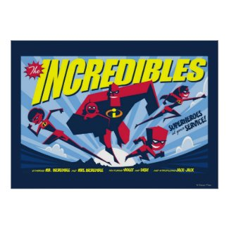 The Incredibles movie poster Poster