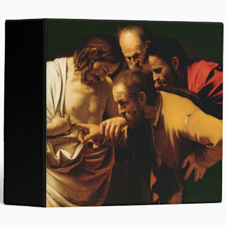 The Incredulity of St. Thomas, 1602-03 3 Ring Binder