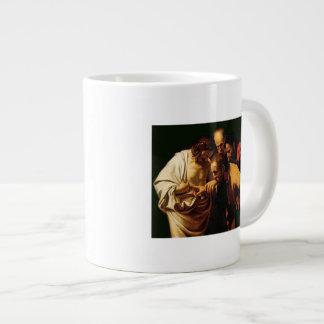 The Incredulity of St. Thomas, 1602-03 Large Coffee Mug