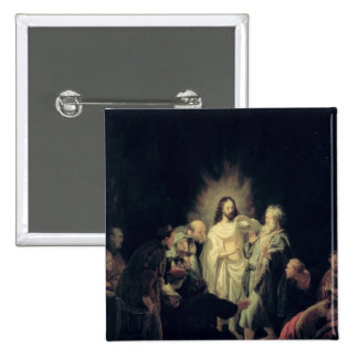 The Incredulity of St. Thomas 2 Inch Square Button