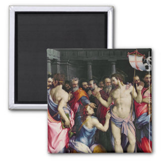 The Incredulity of St. Thomas, c.1547 2 Inch Square Magnet