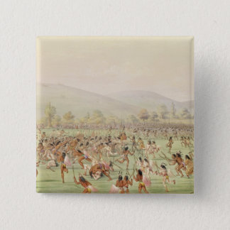 The Indian Ball Game, c.1832 Button
