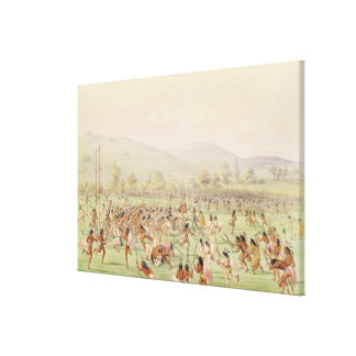 The Indian Ball Game, c.1832 Canvas Print