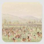 The Indian Ball Game, c.1832 Square Sticker