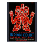 The Indian Court. Postcards