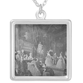 The Indian Emperor, engraved by Robert Dodd Square Pendant Necklace