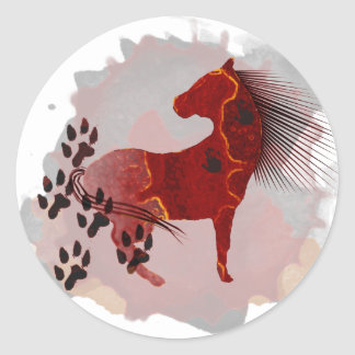 The Indian Pony t-shirts and gifts Classic Round Sticker