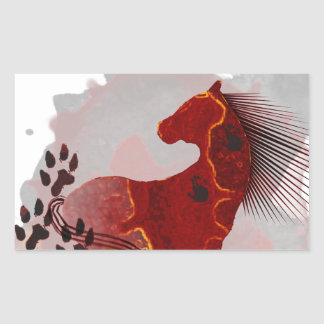The Indian Pony t-shirts and gifts Rectangular Sticker