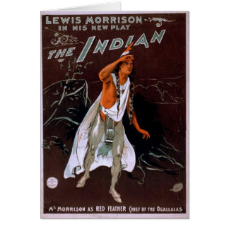 The Indian, 'Red Feather' Vintage Theater Greeting Card